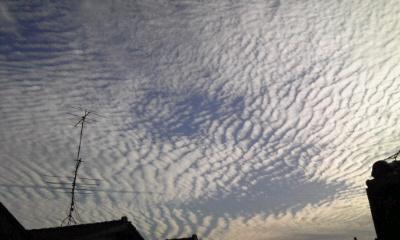 雲すごいな